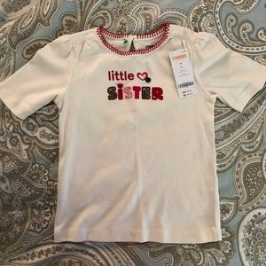 NWT Gymboree little sister shirt